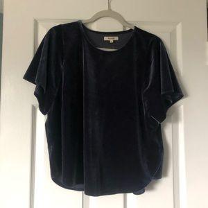 velvet blue madewell shirt